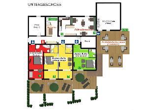 Untergeschoss (3 Suiten)